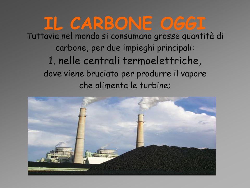 IL CARBONE OGGI 1. nelle centrali termoelettriche,