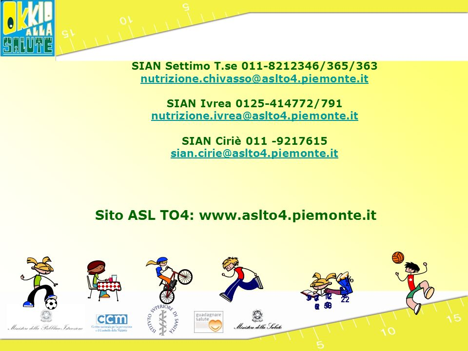 Sito ASL TO4: www.aslto4.piemonte.it