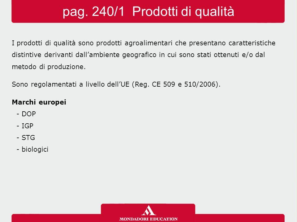 pag. 240/1 Prodotti di qualità