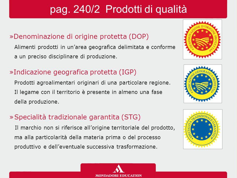 pag. 240/2 Prodotti di qualità