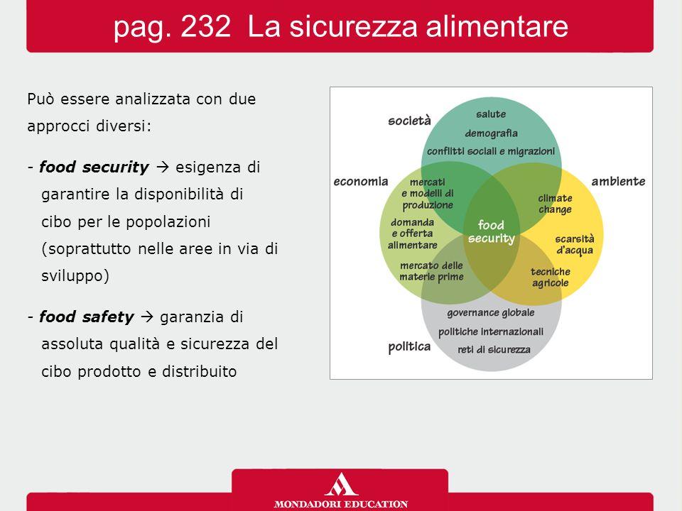pag. 232 La sicurezza alimentare