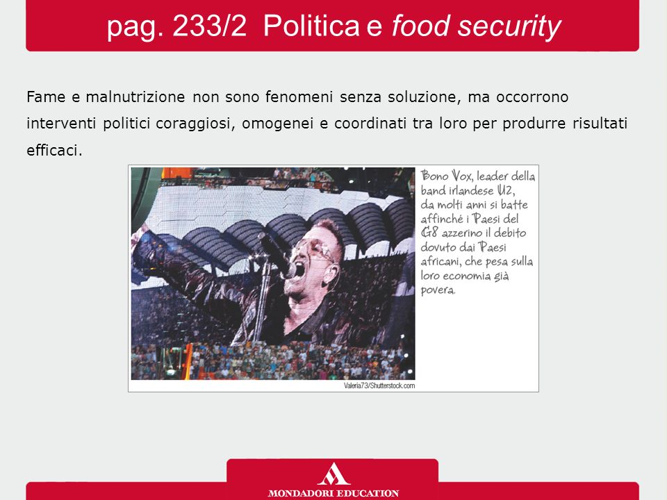 pag. 233/2 Politica e food security