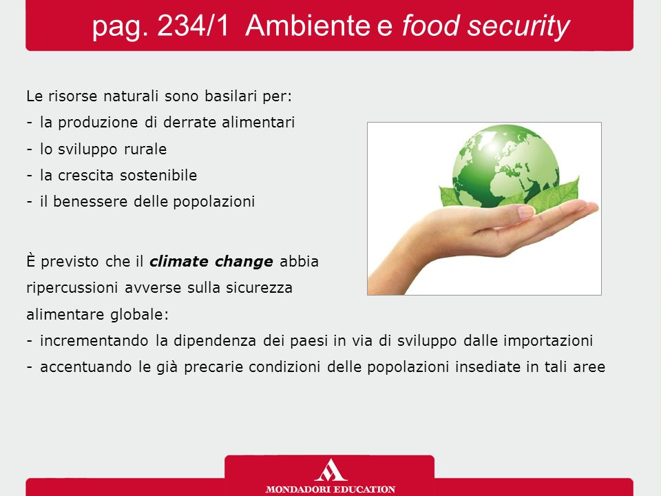 pag. 234/1 Ambiente e food security