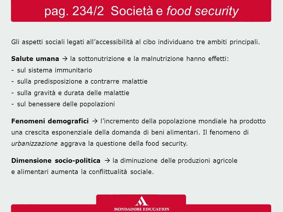pag. 234/2 Società e food security