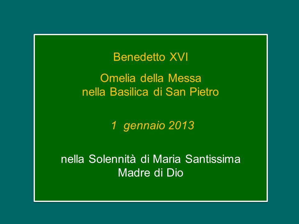 Omelia della Messa nella Basilica di San Pietro
