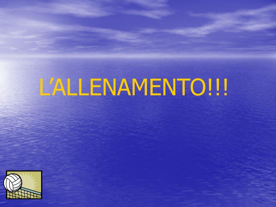 L'ALLENAMENTO!!!