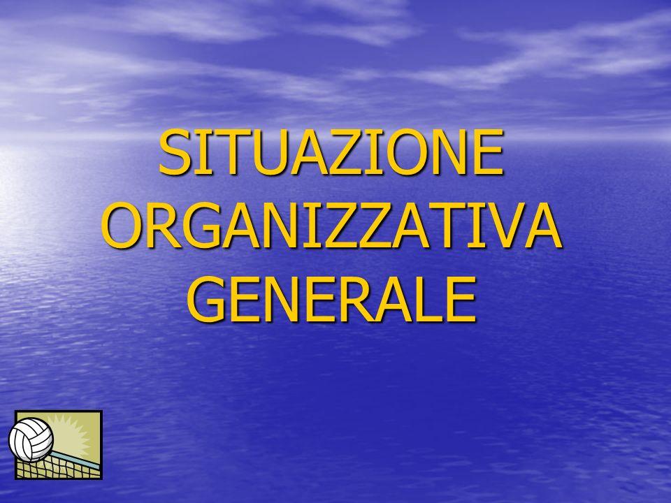 SITUAZIONE ORGANIZZATIVA GENERALE
