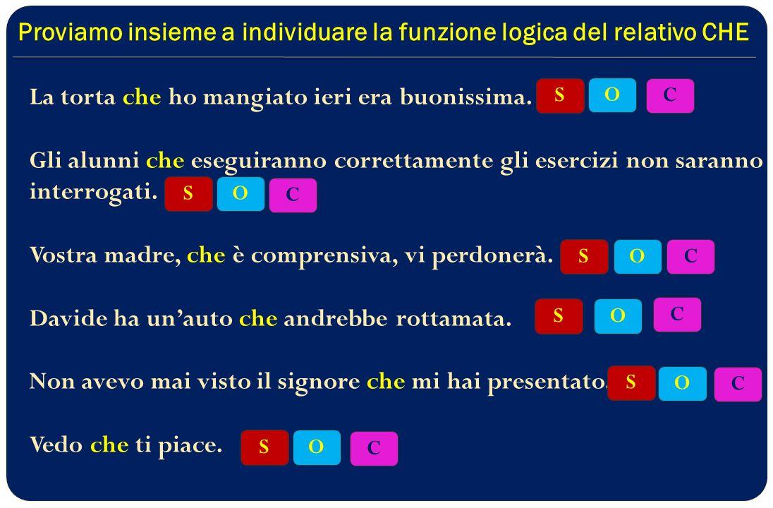 Proviamo insieme a individuare la funzione logica del relativo CHE
