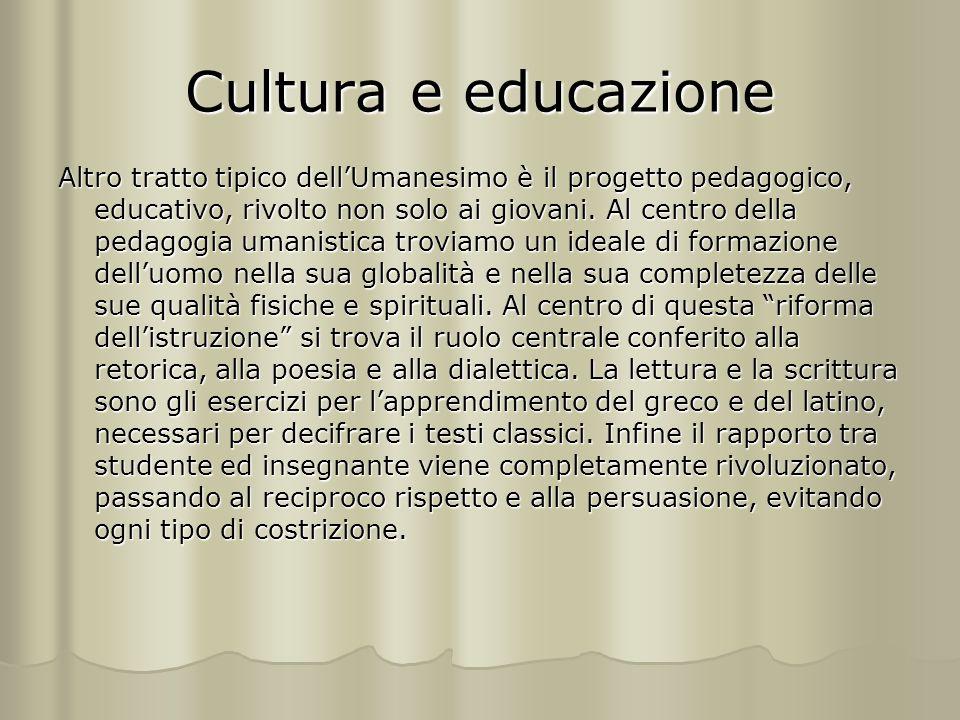 Cultura e educazione