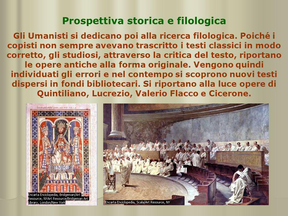 Prospettiva storica e filologica