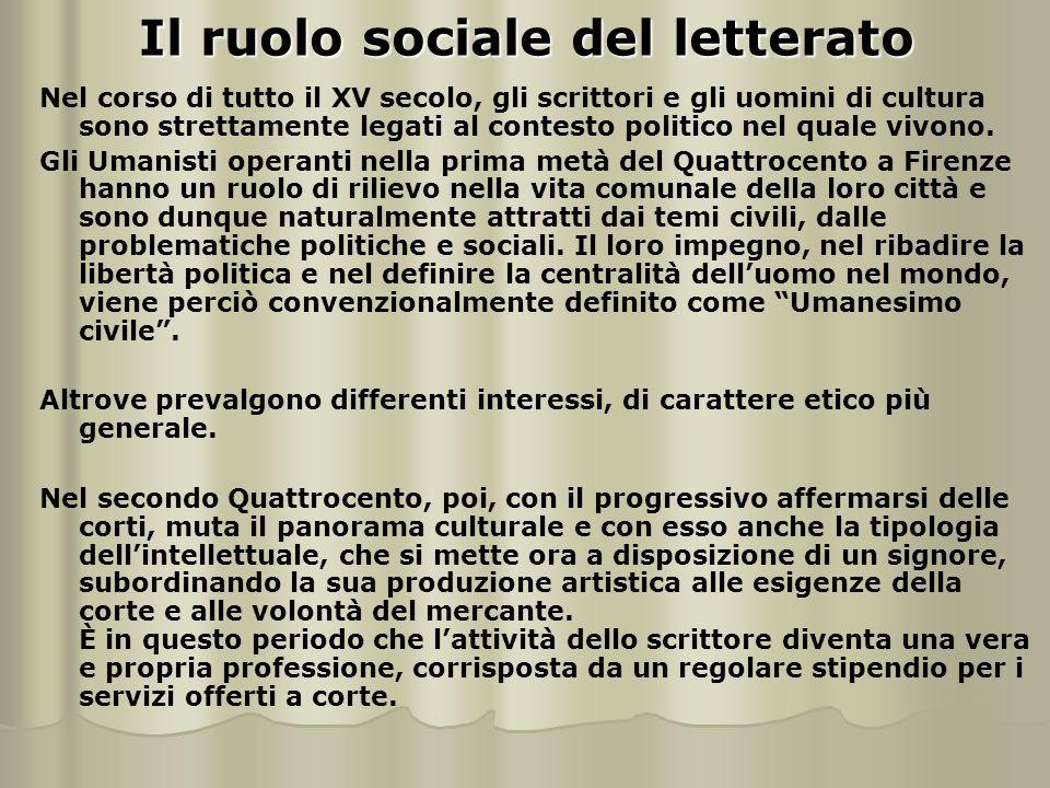 Il ruolo sociale del letterato