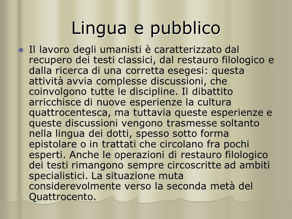 Lingua e pubblico