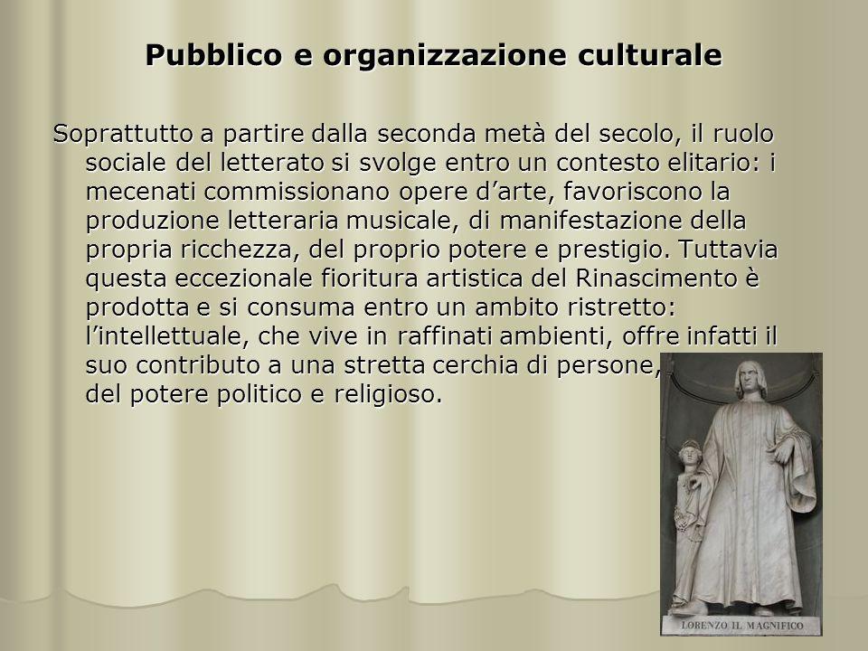 Pubblico e organizzazione culturale