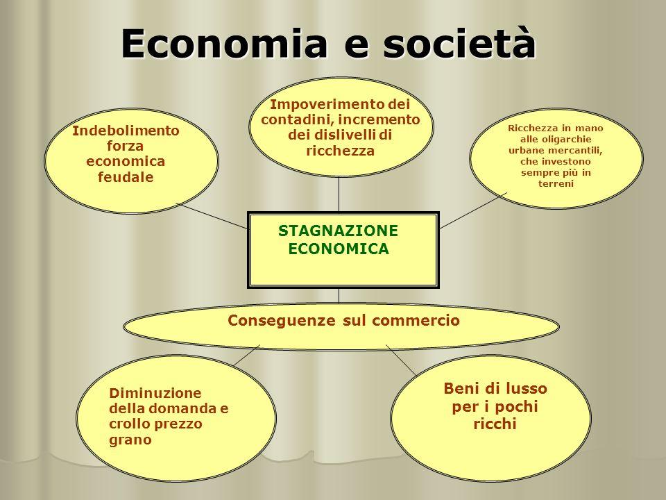 Economia e società STAGNAZIONE ECONOMICA Conseguenze sul commercio