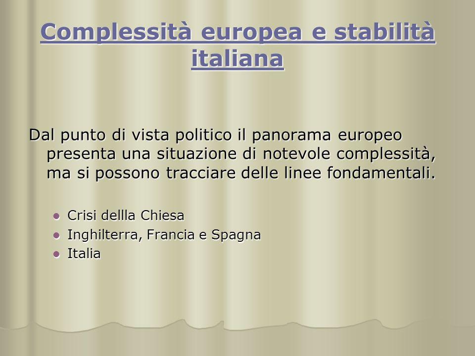 Complessità europea e stabilità italiana