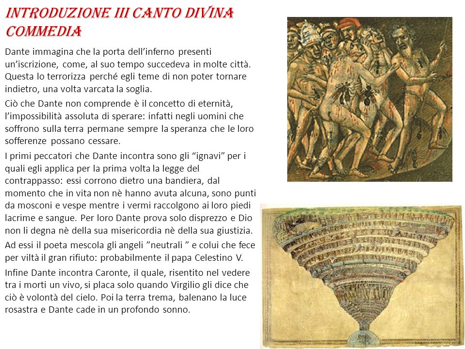 Introduzione III canto Divina Commedia