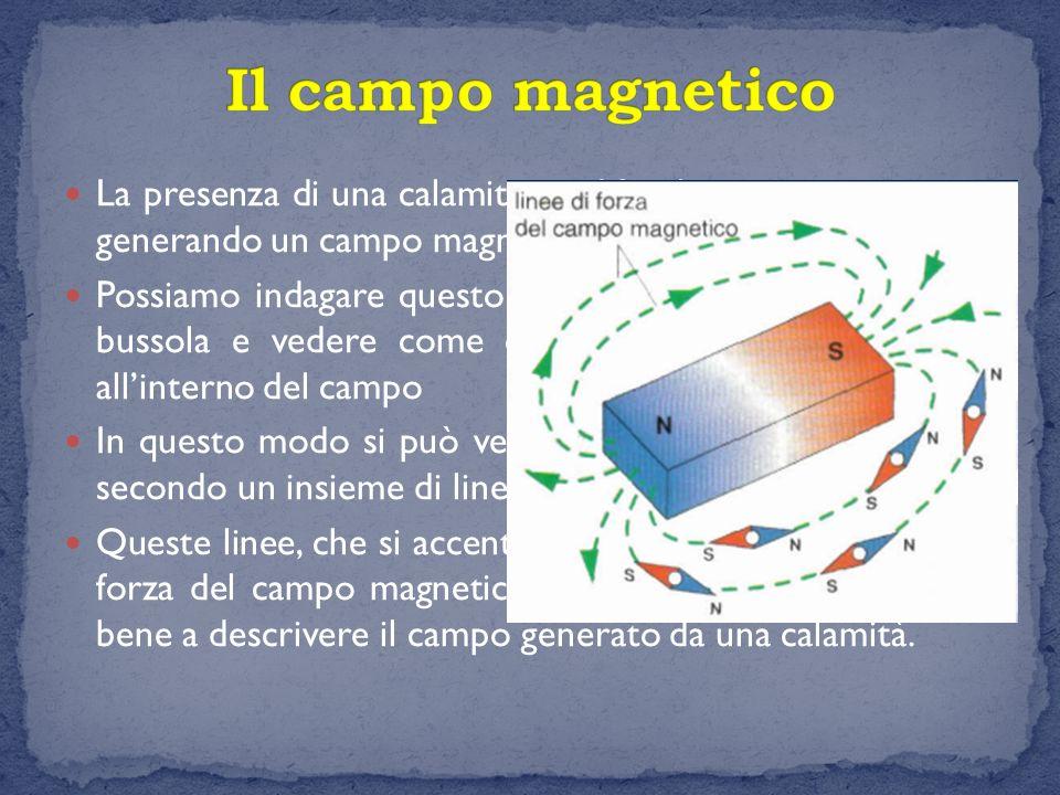 Il campo magnetico La presenza di una calamita modifica lo spazio circostante generando un campo magnetico.