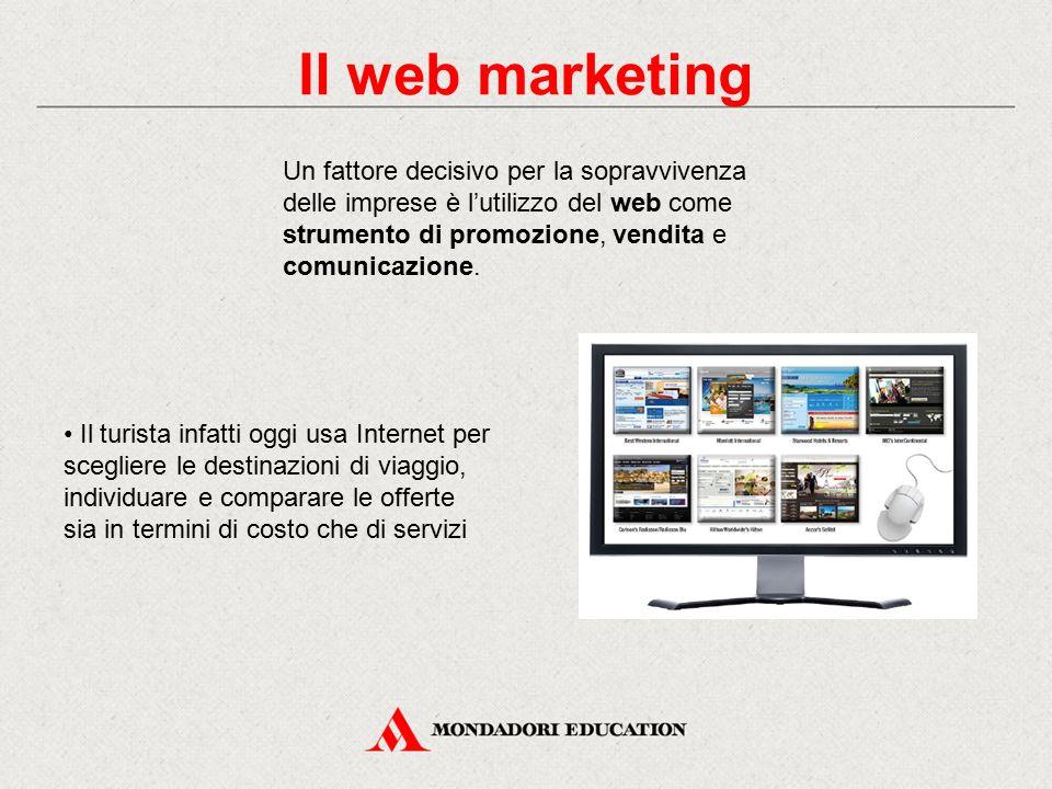 Il web marketing Un fattore decisivo per la sopravvivenza delle imprese è l'utilizzo del web come strumento di promozione, vendita e comunicazione.