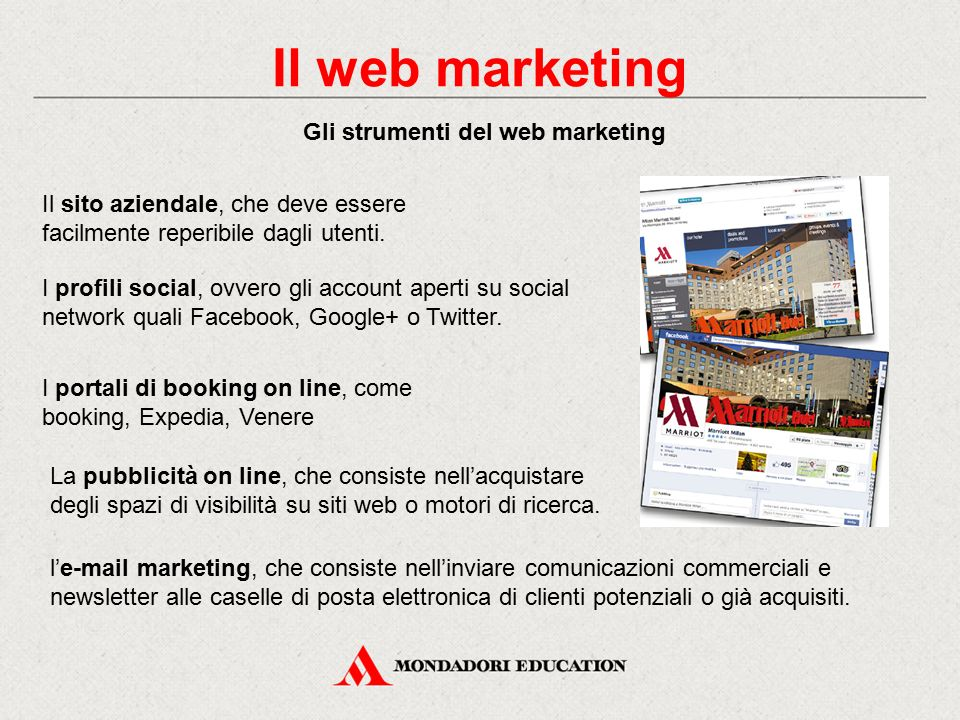 Gli strumenti del web marketing