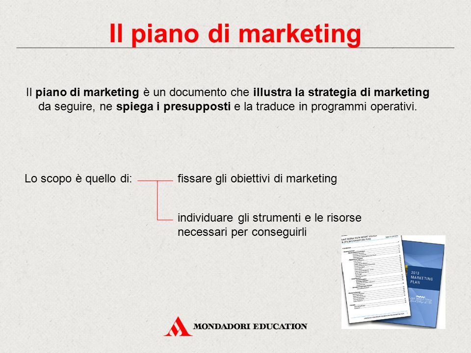 Il piano di marketing