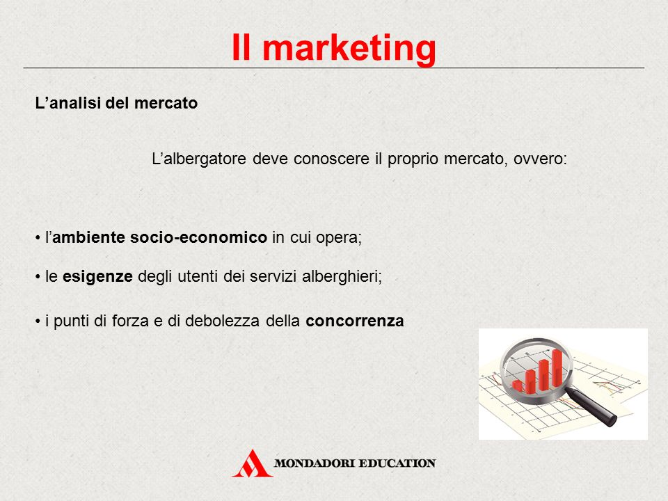 Il marketing L'analisi del mercato