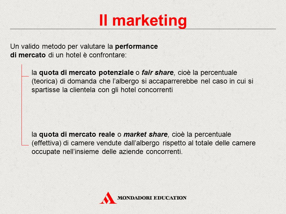 Il marketing Un valido metodo per valutare la performance