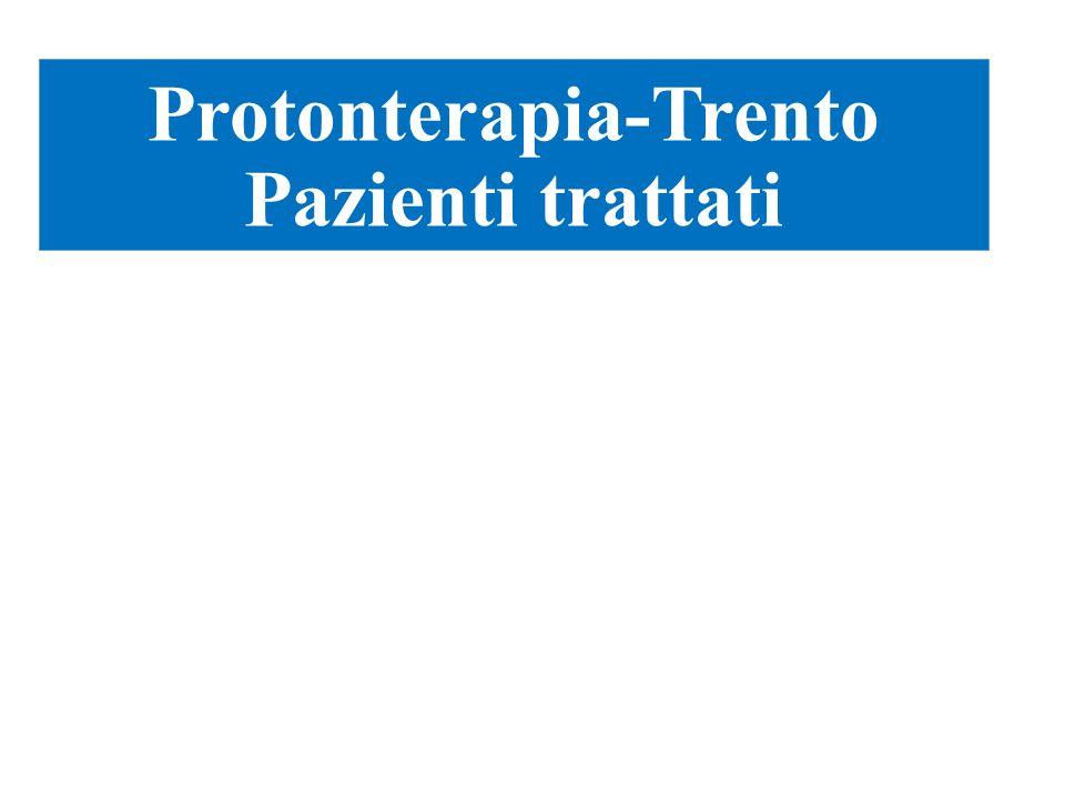 Attività U.O. Protonterapia-Trento Pazienti trattati