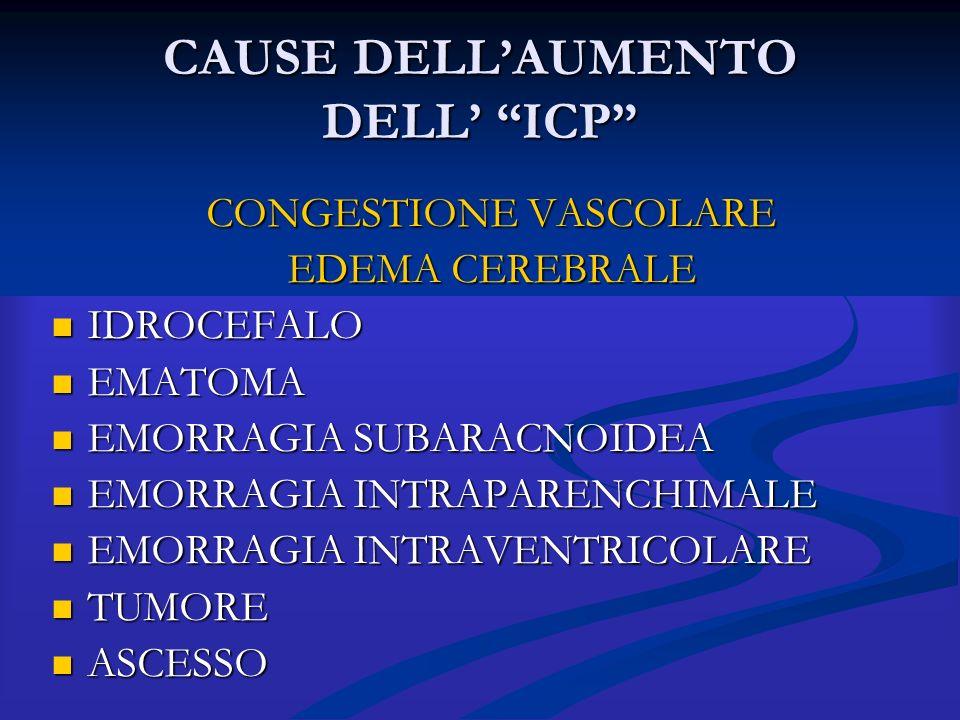 CAUSE DELL'AUMENTO DELL' ICP