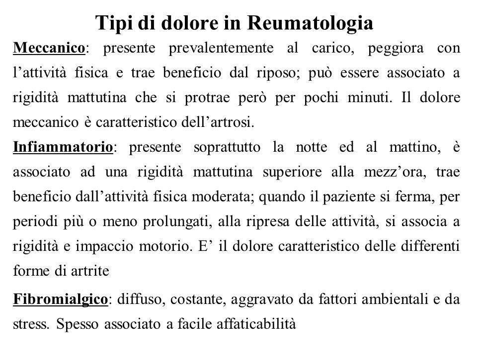 Tipi di dolore in Reumatologia