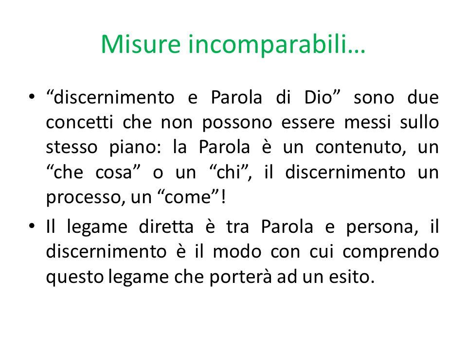 Misure incomparabili…