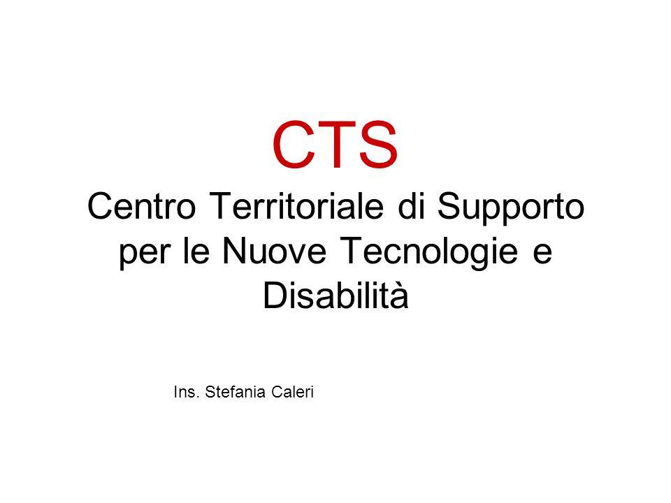 CTS Centro Territoriale di Supporto per le Nuove Tecnologie e Disabilità
