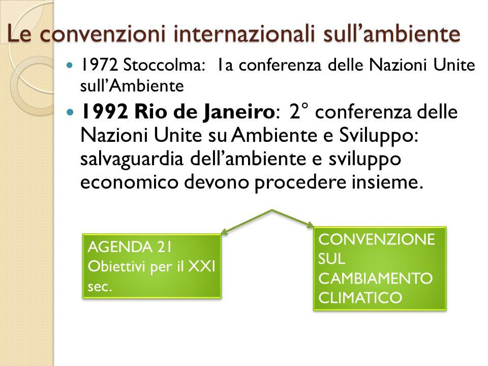 Le convenzioni internazionali sull'ambiente
