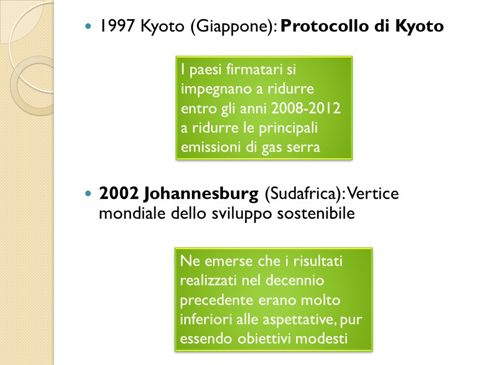 1997 Kyoto (Giappone): Protocollo di Kyoto