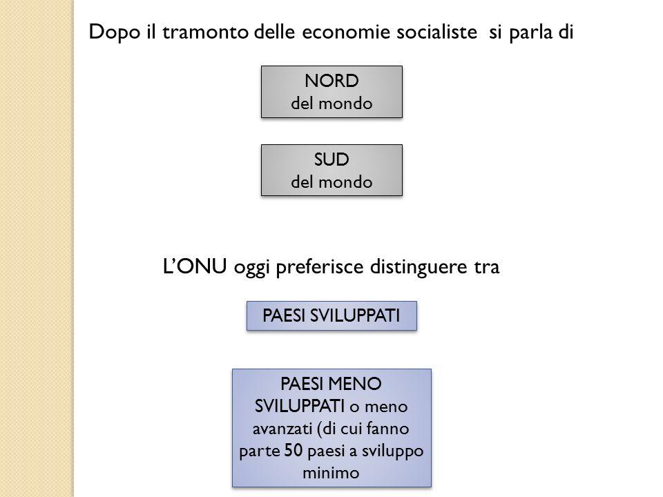 Dopo il tramonto delle economie socialiste si parla di
