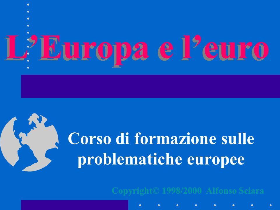 Corso di formazione sulle problematiche europee