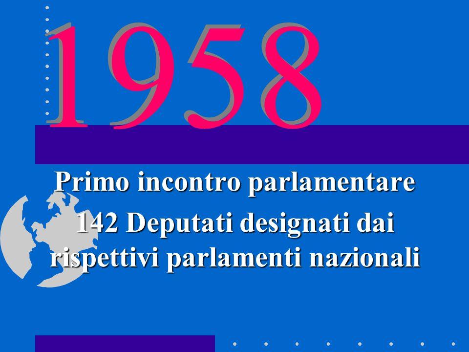 1958 Primo incontro parlamentare