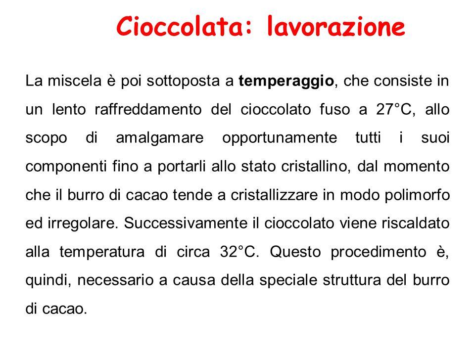 Cioccolata: lavorazione