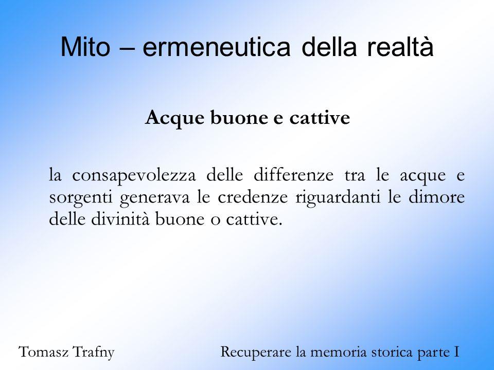 Mito – ermeneutica della realtà