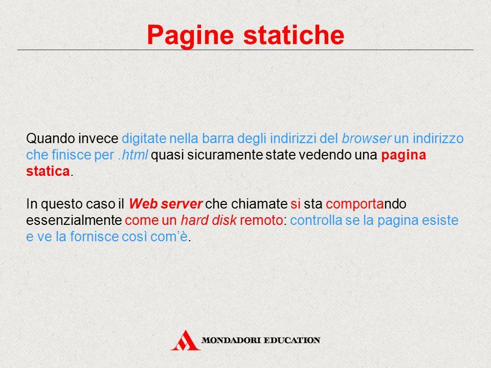 Pagine statiche