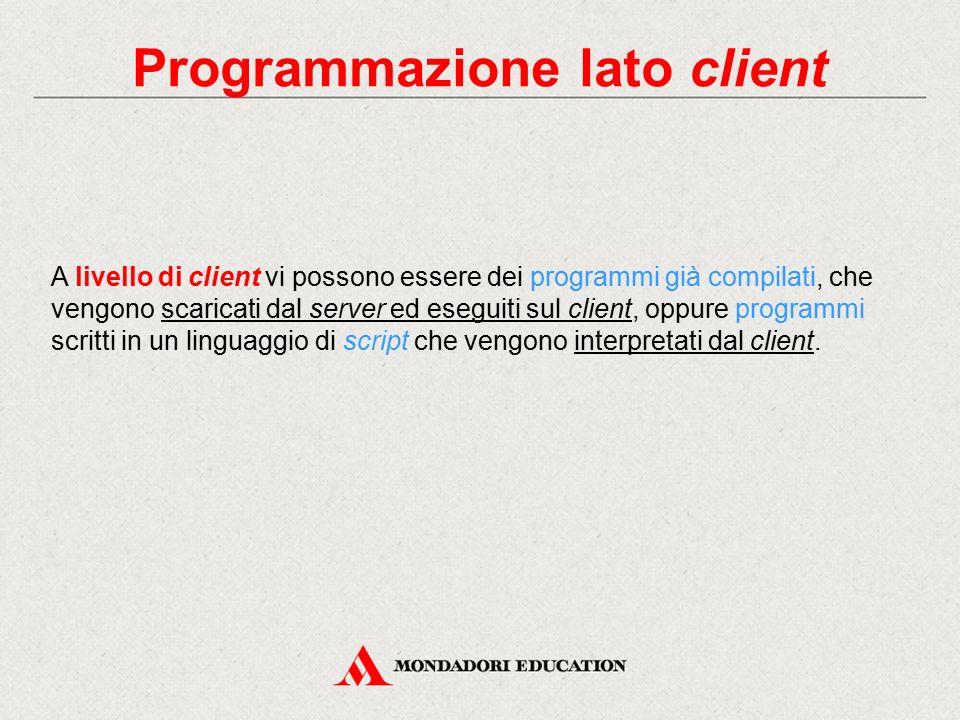 Programmazione lato client