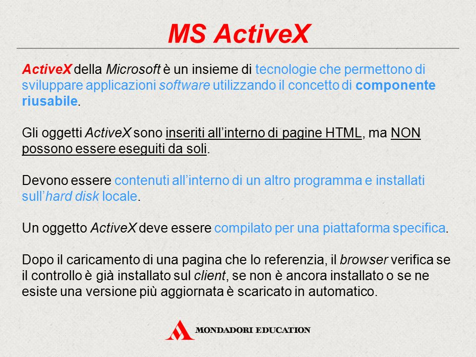 MS ActiveX