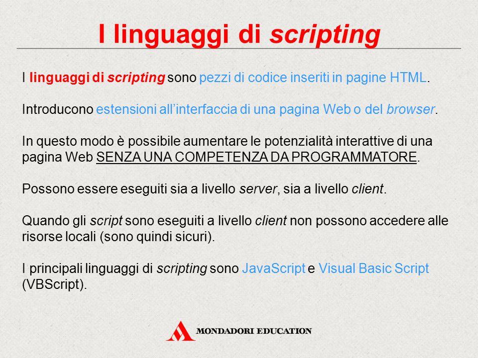 I linguaggi di scripting