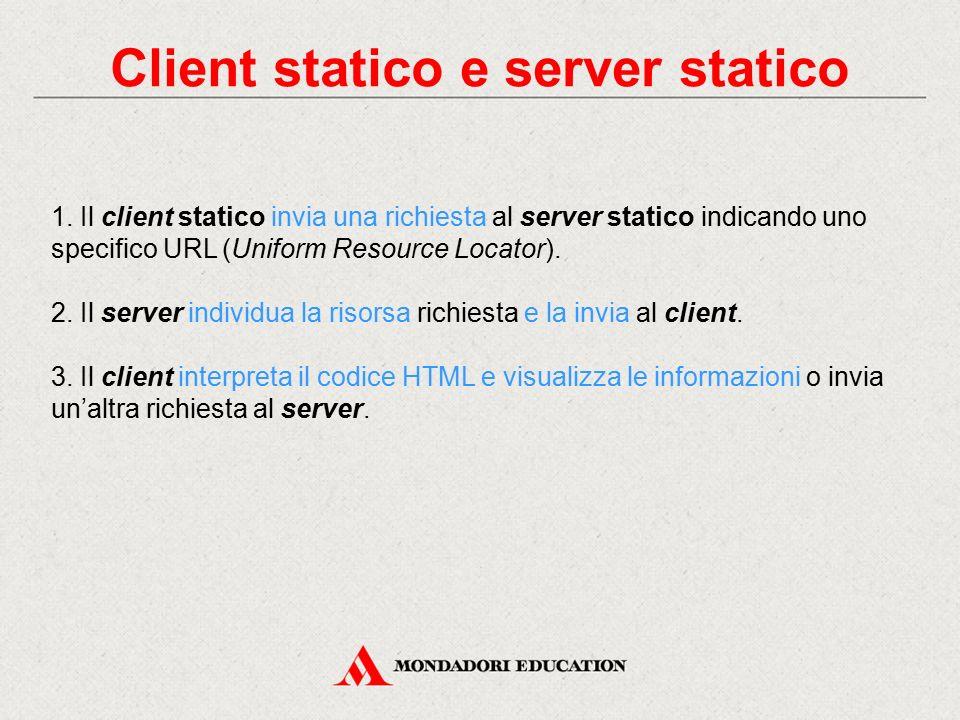 Client statico e server statico