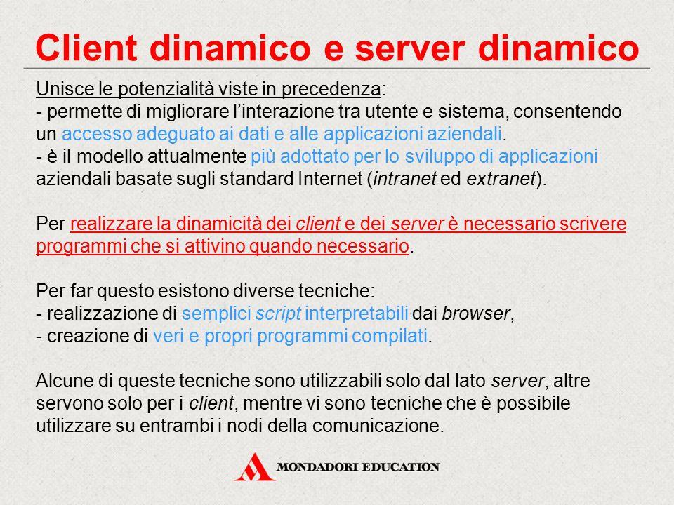 Client dinamico e server dinamico