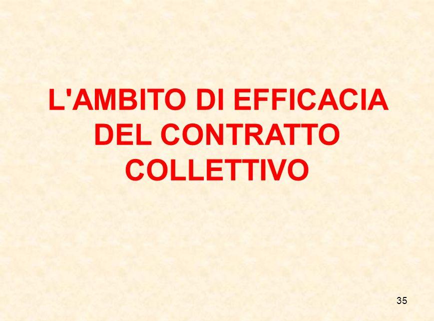 L AMBITO DI EFFICACIA DEL CONTRATTO COLLETTIVO