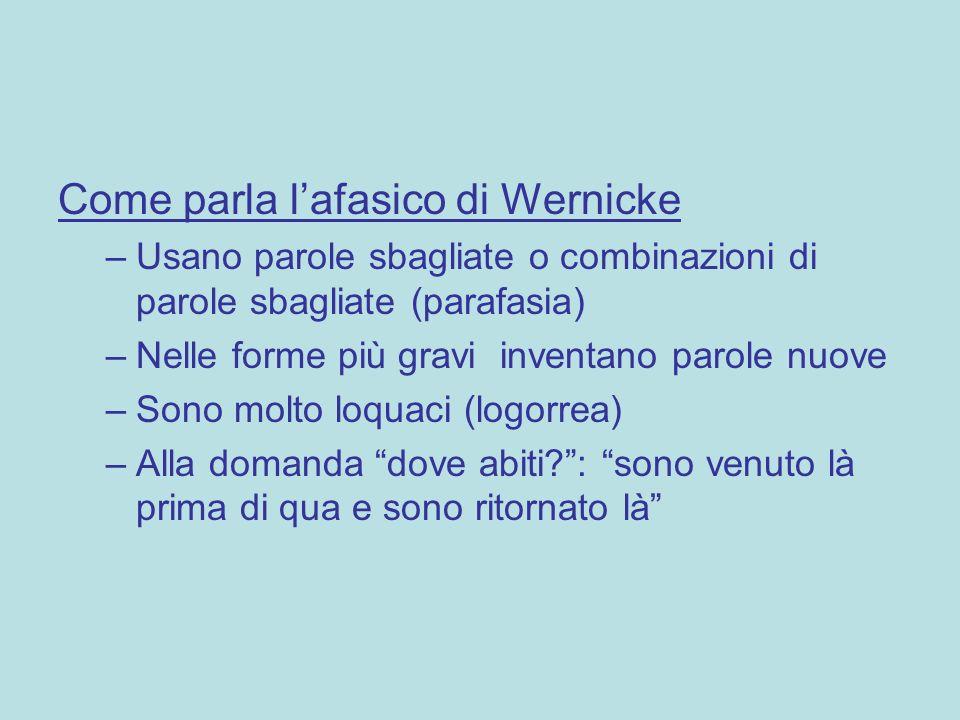 Come parla l'afasico di Wernicke