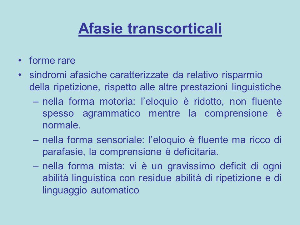 Afasie transcorticali