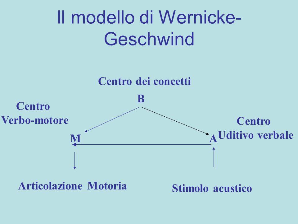 Il modello di Wernicke-Geschwind