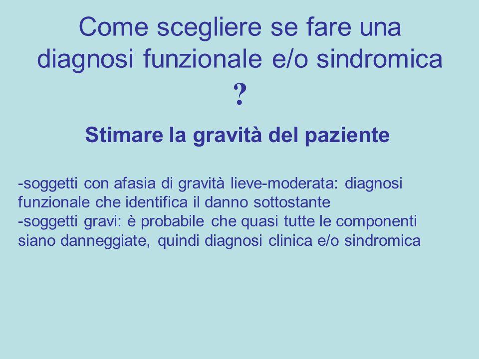 Come scegliere se fare una diagnosi funzionale e/o sindromica