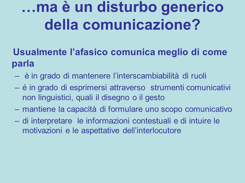 …ma è un disturbo generico della comunicazione